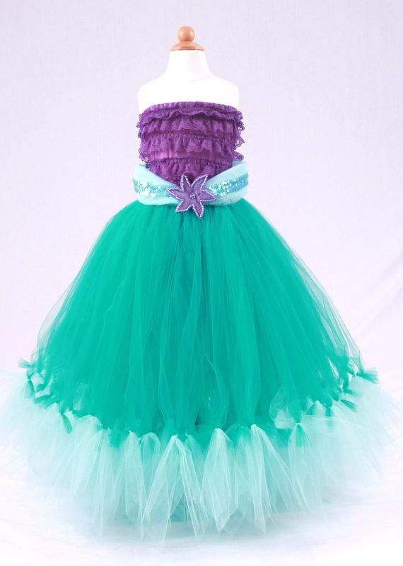 Tutu Skirt  Teal  Princess Ariel  Mermaid by Cutiepatootiedesignz, $75.00