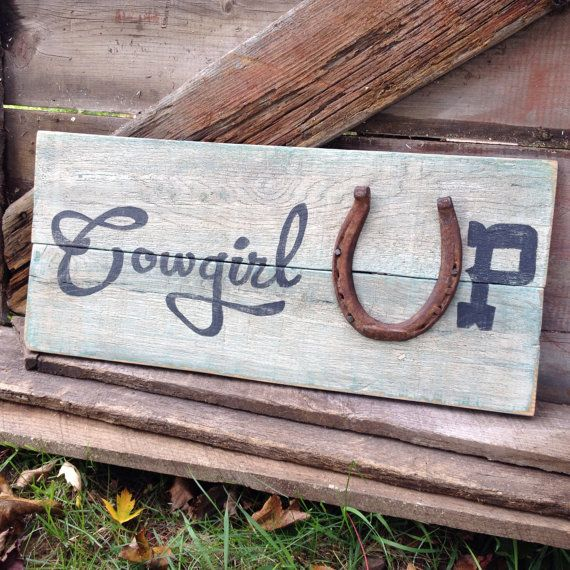 Cowgirl Up Country Home Decor Pallet Sign by SassyPantsSigns for our master bathroom