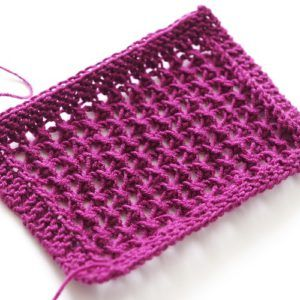 knitting pattern for lace net