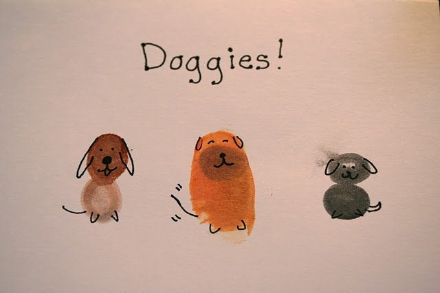 thumbprint dogs. Mrs. S loves dogs | Things I wanna make ...