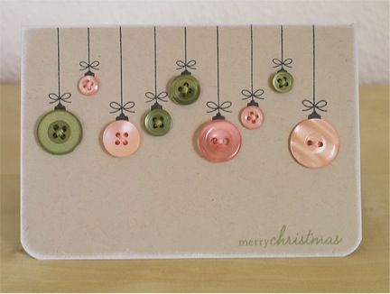 button crafts for adults | Scribble Blog-Inspiring Creativity » DIY holiday crafts. This would make a beautiful greeting card.