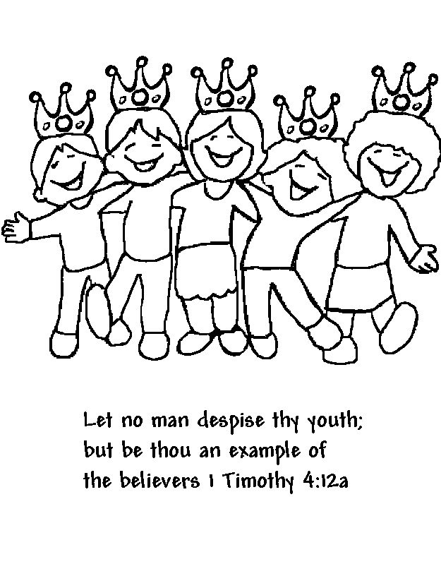 1 Timothy 4 12 Coloring Page Google Search Sunday