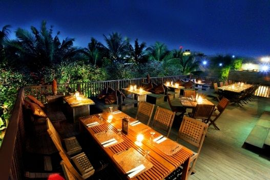 TERRACE on UPSTAIRS. Open-air dining area, best choice to relax & enjoy the sky of Bandung