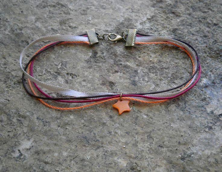 Bracelet de cheville - Marron rouge et orange : Autres bijoux par stonanka