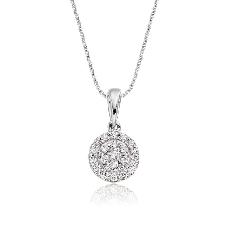 0.15 Ct Illusion Set Round Diamond Pendant,Heavy White Gold (Chain Is Not Included With Pendant)