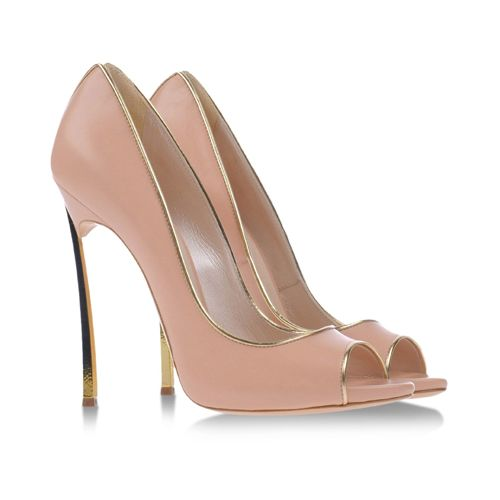 Casadei light pink Blades with gold detailing #shoes #scarpe #fashion