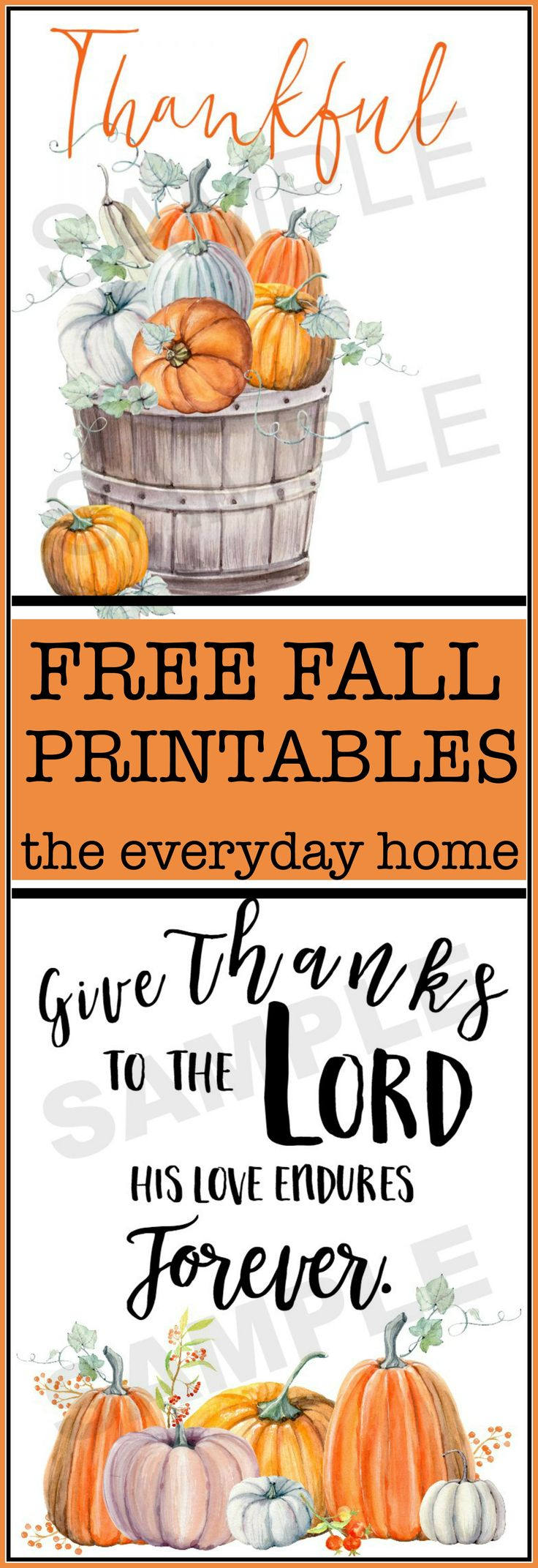 FREE Fall Printables for Download | The Everyday Home