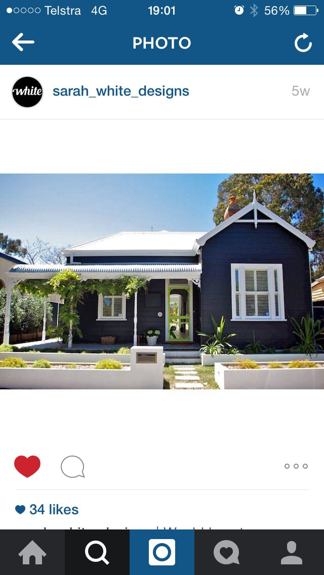 colour of the house // colour bond roof // bullnose verandah