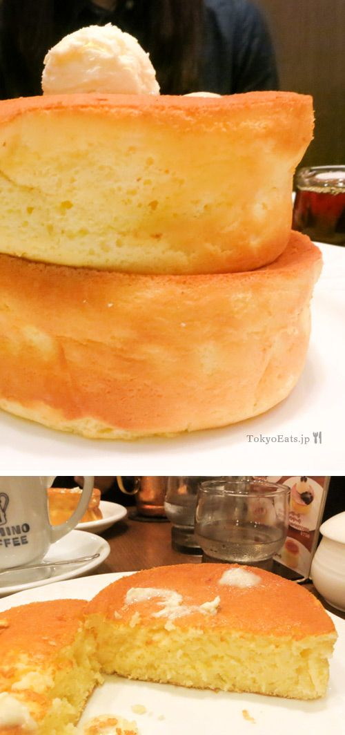 Hoshino Coffee -- 星乃珈琲店 double soufflé pancakes and Coffee in Tokyo