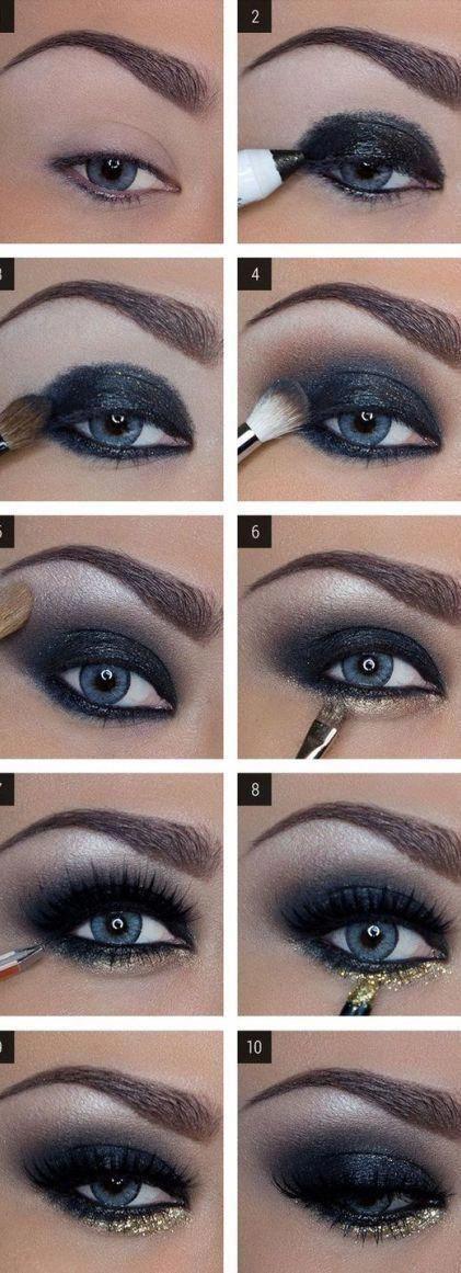 16 tutorial ombretti semplici e dettagliati #Eyeshadows #St …
