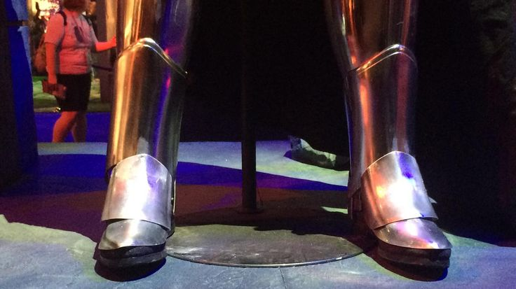 actual Captain Phasma costume boots in detail
