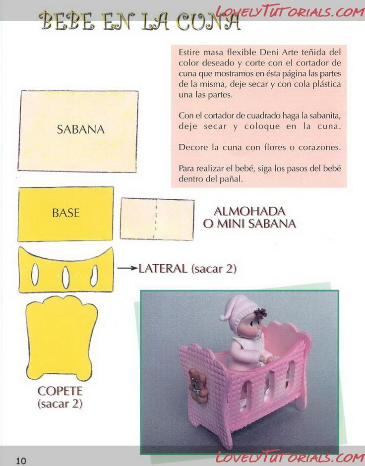 pram, cot, crib, cradle templates,patterns