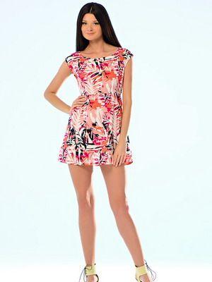 Стильные короткие платья летние
