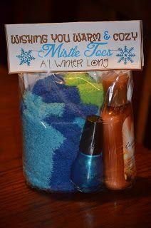 mistletoes :) cute lotion, socks and polish