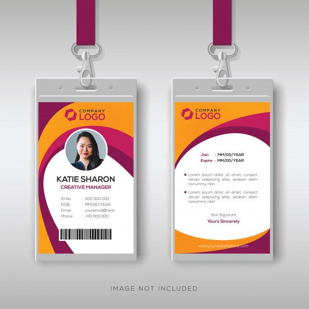 30 Creative Id Card Design Examples With Free Download Tech Trainee Employee Id Card Card Design Identity Card Design