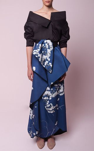 Cotton Floral Printed Mai Long Skirt by JOHANNA ORTIZ Now Available on Moda Operandi