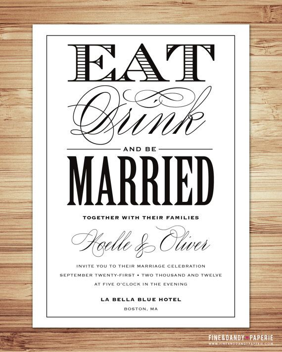 Be Married Wedding Invitation & RSVP by fineanddandypaperie, $30.00