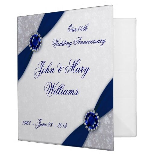 Damask th wedding anniversary binder more