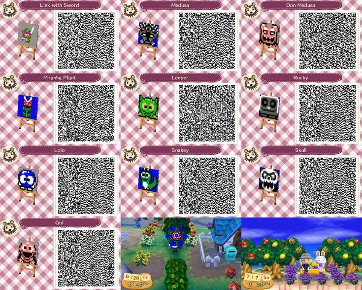 Modern Wood Flooring Acnl: Animal Crossing New Leaf Custom Design QR Codes By