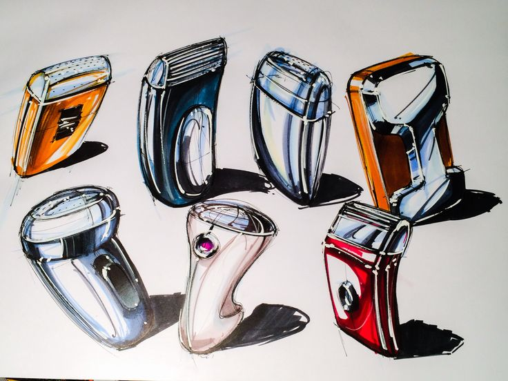 Marker sketches. Wow these really pop #id #product #sketch