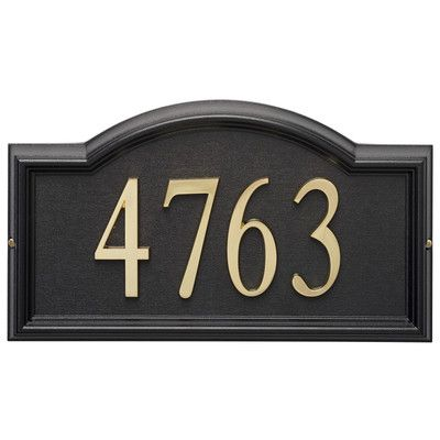 Found it at Wayfair - Design-it Arch Address Plaque