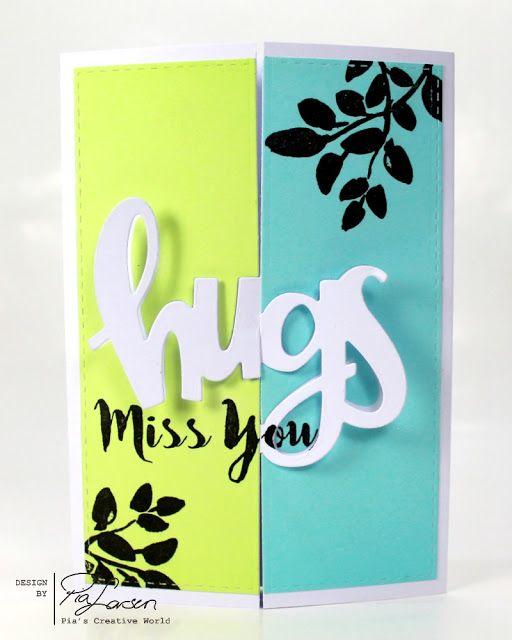 Pia's Creative World: Interlocking HUGS card with Concord & 9th