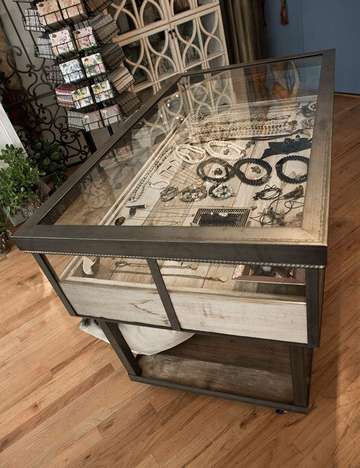 Jewelry Case Out Of Reclaimed Wood For Bloom An Upscale Florist U0026 Home  Furnishings Store In
