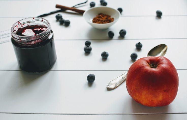 Heidelbeer-Apfel-Marmelade mit Zimt und Vanille