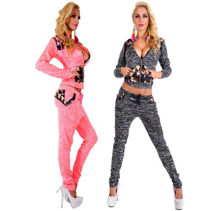 Sweatshirt + Pants 2 Pieces Set 2017 Spring Women Lovely Sporting Suits for Ladies Leisure Tracksuit