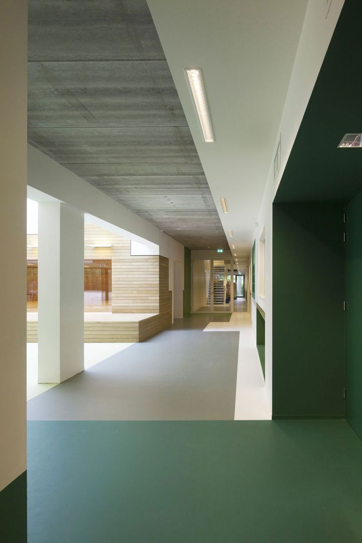 School With Quadruple Height Atrium By Behnisch Architekten