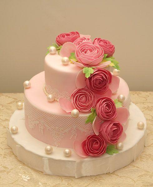 праздничный эксклюзивный торт для девушки на день рождения 8657