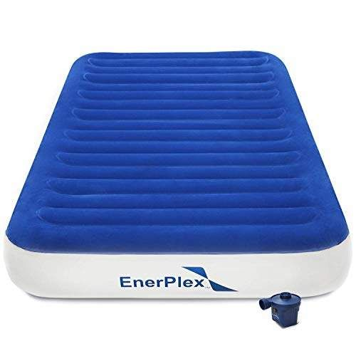 Enerplex Never Leak Twin Size Air Mattress Best Airbed For Home And Camping Use Wireless Rechargeable Pump For Blow Up In Home Car Tent Camping Guest Bed 2 Year