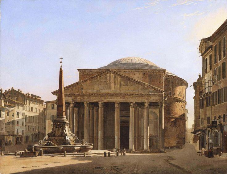 Francois Vervloet (1795 Malines - Venezia 1872) The Pantheon