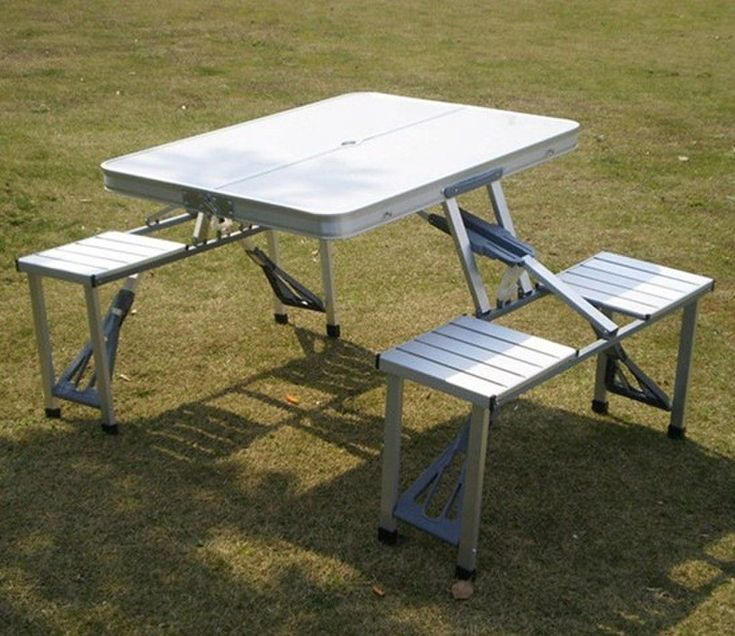 Aluminium Folding Camping Table And Chairs #CampingTable
