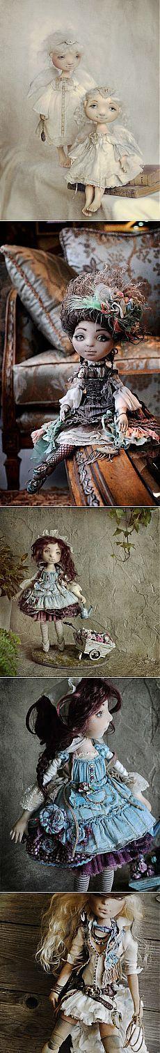 Текстильные куклы в наивном стиле Яны Яхиной (ч.3).
