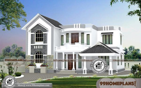 House Front Elevation Indian Style 2 Floor House Plans By Architects Indian House Exterior Design Small House Design Small House Elevation Design