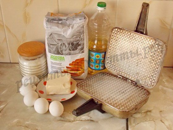 ингредиенты для домашних вафель