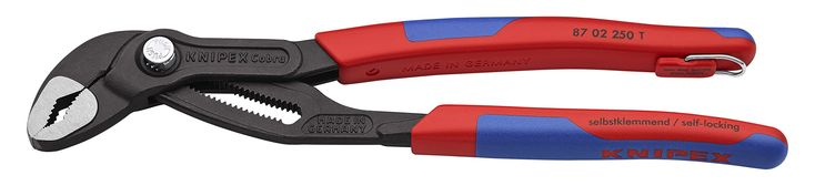 "Knipex Tools 87 02 250 T BKA 10"" Cobra Pliers, Tether Attachment-Comfort Grip,"