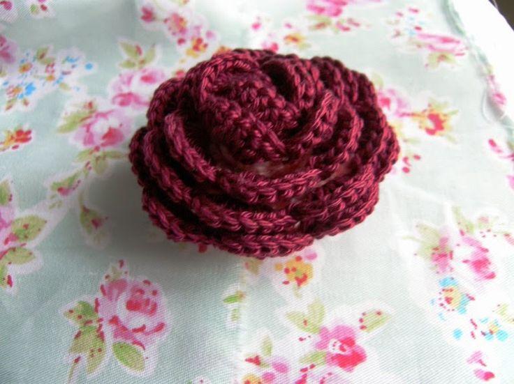 crochet rose patten háčkovaná růže návod