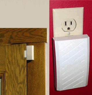 Door alarm to help alert Caregivers when someone with Alzheimer's/dementia tries to leave.  Simple plug in design.