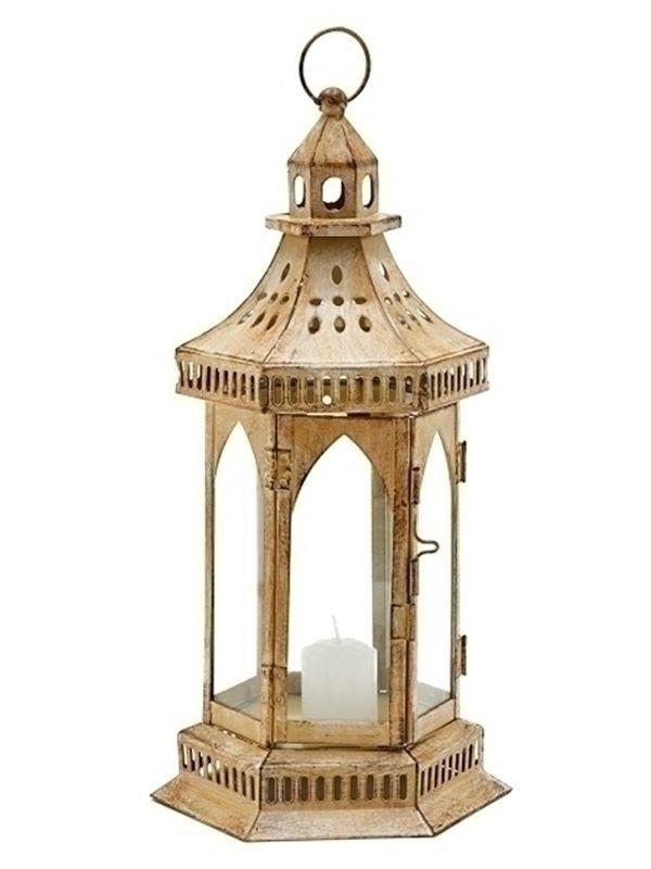 Lanterna Marroquina Rústica p/  Velas 34cm - https://www.artesintonia.com.br/lanterna-marroquina-rustica-p-decoracao-com-velas-34x18cm
