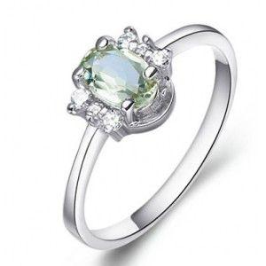 .50 Carat Aquamarine Engagement Ring on Silver