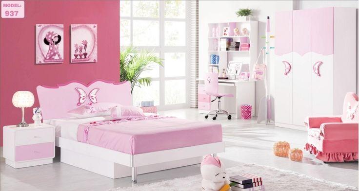 pink childrens bedroom furniture - bedroom interior decorating