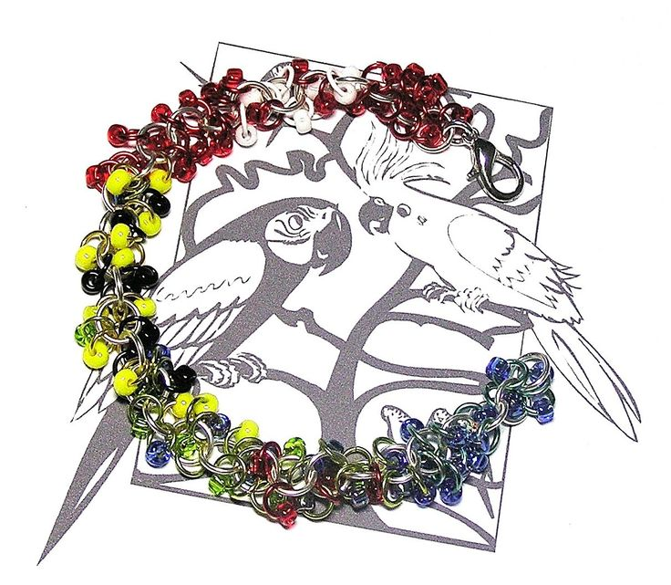 Eastern Rosella Chainmaille Bracelet - Enchanted Moon