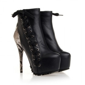 cheap marketable Gianmarco Lorenzi Snakeskin-Trimmed Ankle Boots big sale for sale order online discount best cr7KnXoGh