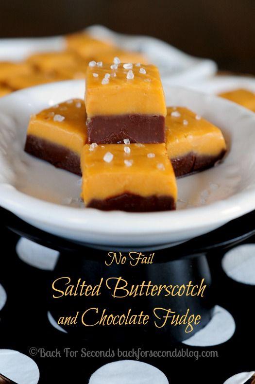 NO FAIL Salted Butterscotch Chocolate Fudge - Move over salted carmel! This is AMAZING!!! #fudge #fall #dessert