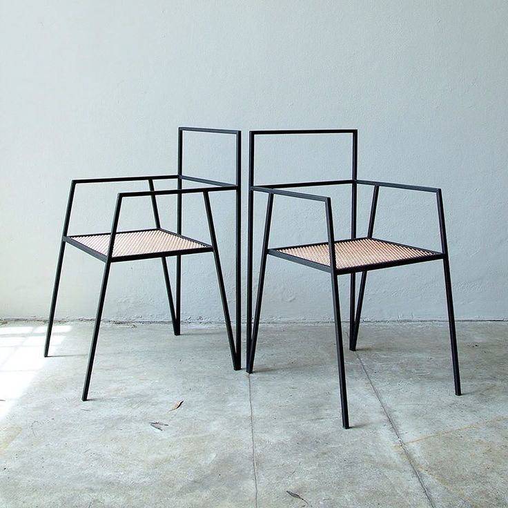 Argentinian architecture @somos_ries has designed a collection of minimal furniture based around simple steel frames.  The Alpina range includes a chair work desk table and storage unit all of which feature V-shaped solid metal supports. See more images and read the full story on dezeen.com/design #design #furniture by dezeen
