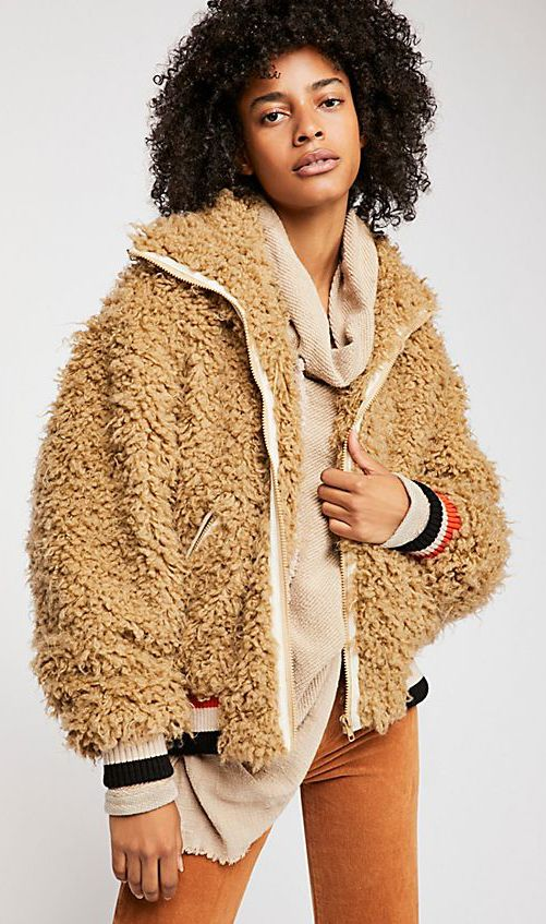 73b019a2d Teddy bomber jacket ... | Boho Chic | Jackets, Free people jacket ...
