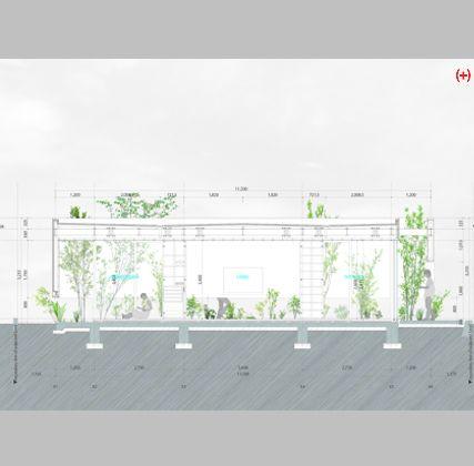 Elevado casi un metro sobre el nivel del suelo, un rotundo muro blanco sin ventanas parece flotar mientras oculta el jardín perimetral que rodea la casa construida por Mayumi y Atsushi Kawamoto —del estudio japonés mA-style— en Fujieda...