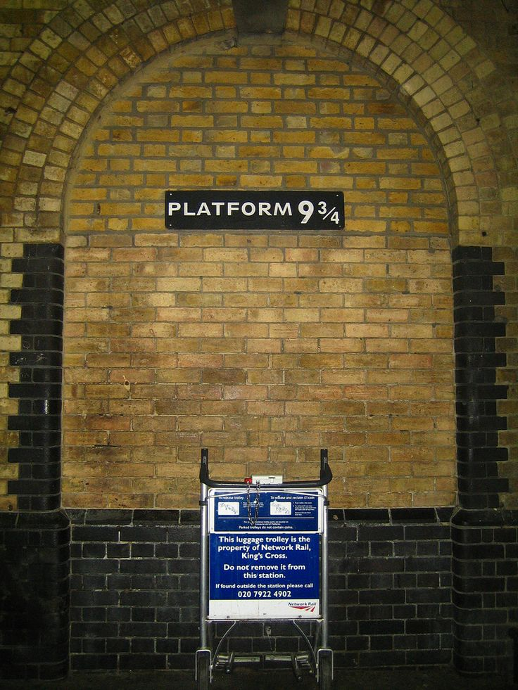 Harry Potter used platform 9 3/4 at King's Cross Station to get to Hogwarts. Rowling discovered after the books were published that she had confused the layout of King's Cross with Euston station, and platforms 9 & 10 at King's Cross were not the ones between which she had meant her magical platform to be placed.There is no platform between lines 9 &10 at King's Cross. To solve this, filmmakers re-numbered platforms 4 & 5 for filming.